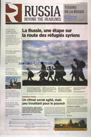 RUSSIA BEYOND THE HEADLINES LE FIGARO no: 16/10/2015