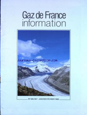 GAZ DE FRANCE INFORMATION no:466 01/01/1988