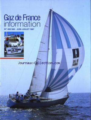 GAZ DE FRANCE INFORMATION no:459 01/06/1987