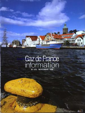 GAZ DE FRANCE INFORMATION no:476 01/11/1988