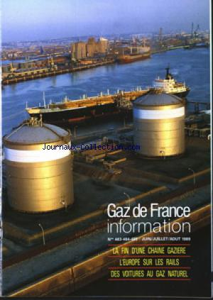 GAZ DE FRANCE INFORMATION no:483 01/06/1989