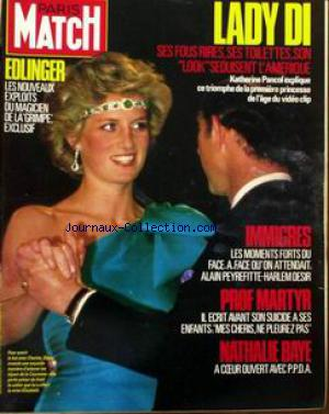 PARIS MATCH no:1904 22/11/1985
