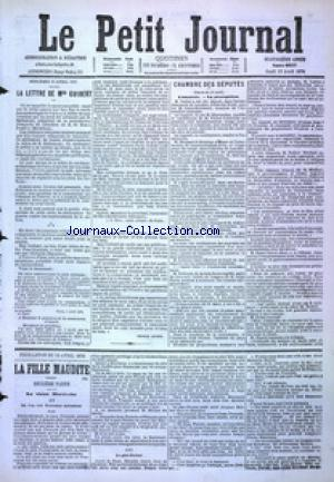 PETIT JOURNAL (LE) no:4857 13/04/1876