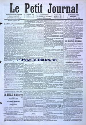 PETIT JOURNAL (LE) no:4867 23/04/1876