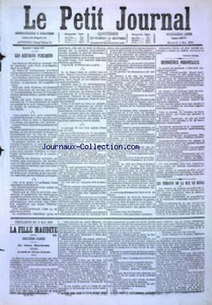 PETIT JOURNAL (LE) no:4877 03/05/1876