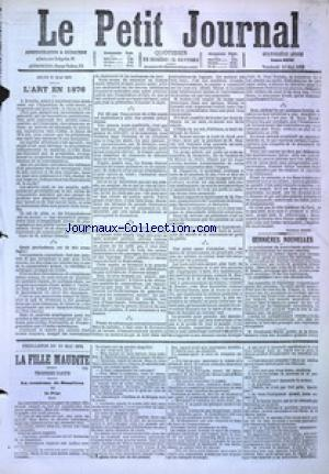 PETIT JOURNAL (LE) no:4886 12/05/1876