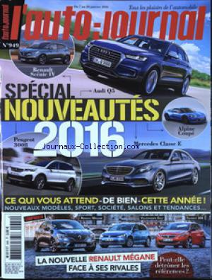 AUTO JOURNAL (L') no:949 07/01/2016