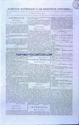GAZETTE NATIONALE OU LE MONITEUR UNIVERSEL no:184 03/07/1810