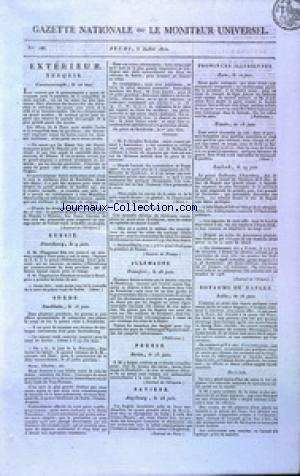 GAZETTE NATIONALE OU LE MONITEUR UNIVERSEL no:186 05/07/1810
