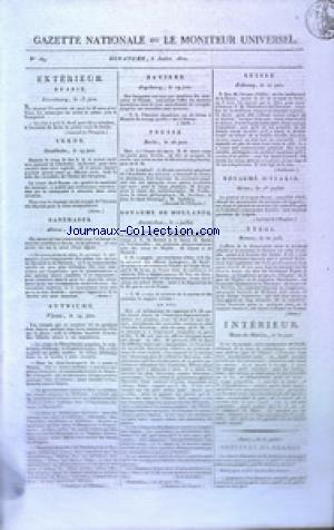 GAZETTE NATIONALE OU LE MONITEUR UNIVERSEL no:189 08/07/1810