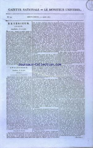 GAZETTE NATIONALE OU LE MONITEUR UNIVERSEL no:192 11/07/1810