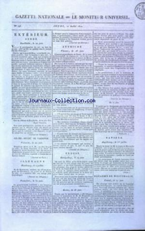 GAZETTE NATIONALE OU LE MONITEUR UNIVERSEL no:193 12/07/1810