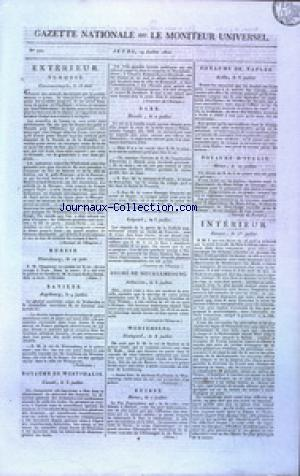 GAZETTE NATIONALE OU LE MONITEUR UNIVERSEL no:200 19/07/1810
