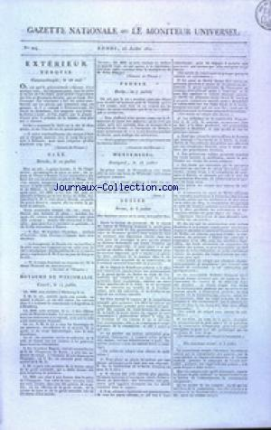 GAZETTE NATIONALE OU LE MONITEUR UNIVERSEL no:204 23/07/1810