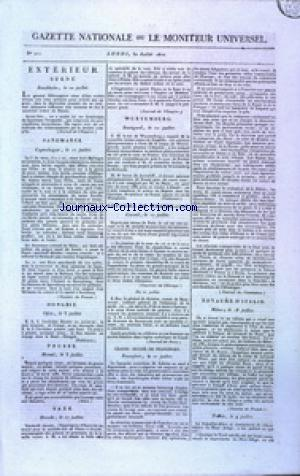 GAZETTE NATIONALE OU LE MONITEUR UNIVERSEL no:211 30/07/1810