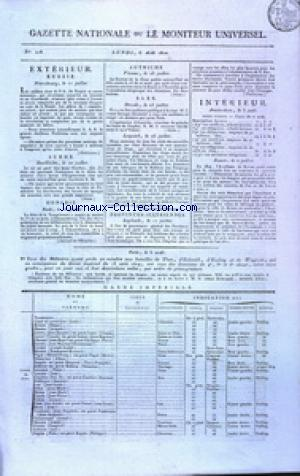GAZETTE NATIONALE OU LE MONITEUR UNIVERSEL no:218 06/08/1810