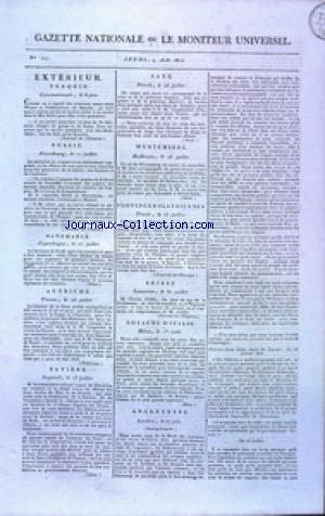 GAZETTE NATIONALE OU LE MONITEUR UNIVERSEL no:221 09/08/1810