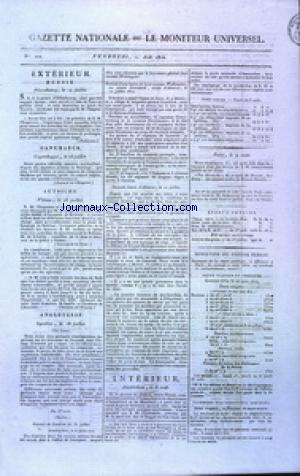 GAZETTE NATIONALE OU LE MONITEUR UNIVERSEL no:222 10/08/1810