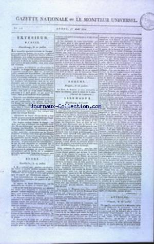 GAZETTE NATIONALE OU LE MONITEUR UNIVERSEL no:225 13/08/1810