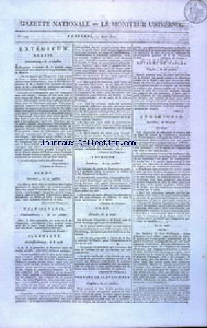 GAZETTE NATIONALE OU LE MONITEUR UNIVERSEL no:229 17/08/1810