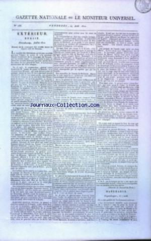 GAZETTE NATIONALE OU LE MONITEUR UNIVERSEL no:236 24/08/1810