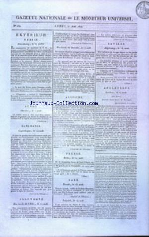 GAZETTE NATIONALE OU LE MONITEUR UNIVERSEL no:239 27/08/1810