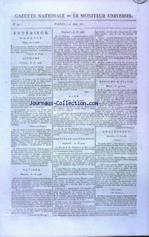 GAZETTE NATIONALE OU LE MONITEUR UNIVERSEL no:240 28/08/1810
