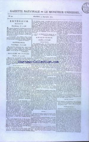 GAZETTE NATIONALE OU LE MONITEUR UNIVERSEL no:247 04/09/1810