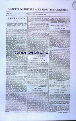 GAZETTE NATIONALE OU LE MONITEUR UNIVERSEL no:250 07/09/1810