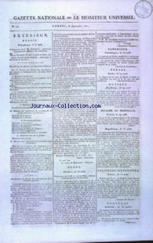 GAZETTE NATIONALE OU LE MONITEUR UNIVERSEL no:251 08/09/1810