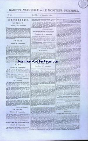 GAZETTE NATIONALE OU LE MONITEUR UNIVERSEL no:261 18/09/1810