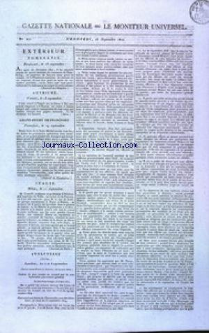 GAZETTE NATIONALE OU LE MONITEUR UNIVERSEL no:271 28/09/1810