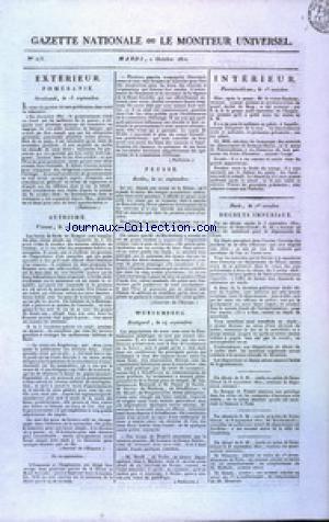 GAZETTE NATIONALE OU LE MONITEUR UNIVERSEL no:275 02/10/1810