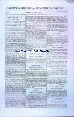 GAZETTE NATIONALE OU LE MONITEUR UNIVERSEL no:282 09/10/1810
