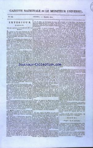 GAZETTE NATIONALE OU LE MONITEUR UNIVERSEL no:284 11/10/1810