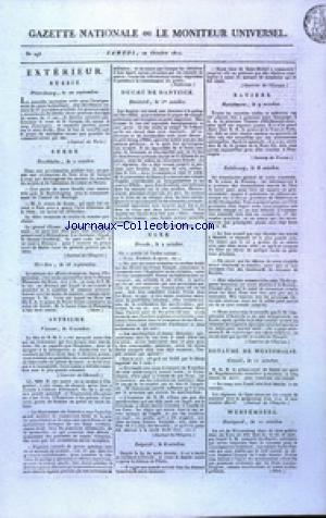 GAZETTE NATIONALE OU LE MONITEUR UNIVERSEL no:293 20/10/1810