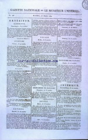 GAZETTE NATIONALE OU LE MONITEUR UNIVERSEL no:296 23/10/1810