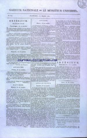 GAZETTE NATIONALE OU LE MONITEUR UNIVERSEL no:300 27/10/1810