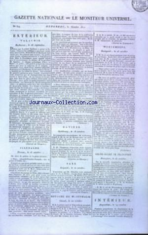 GAZETTE NATIONALE OU LE MONITEUR UNIVERSEL no:304 31/10/1810