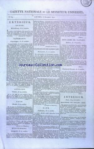 GAZETTE NATIONALE OU LE MONITEUR UNIVERSEL no:309 05/11/1810
