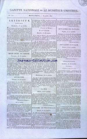 GAZETTE NATIONALE OU LE MONITEUR UNIVERSEL no:311 07/11/1810