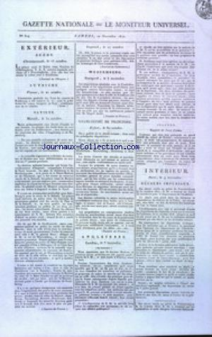 GAZETTE NATIONALE OU LE MONITEUR UNIVERSEL no:314 10/11/1810