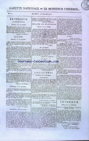 GAZETTE NATIONALE OU LE MONITEUR UNIVERSEL no:317 13/11/1810