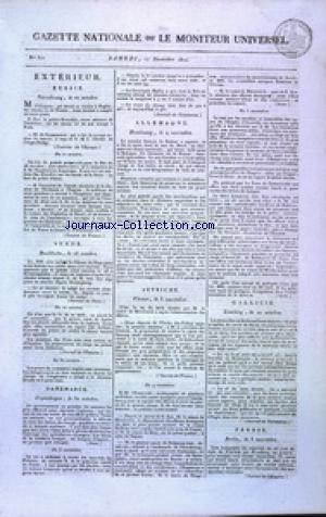 GAZETTE NATIONALE OU LE MONITEUR UNIVERSEL no:321 17/11/1810