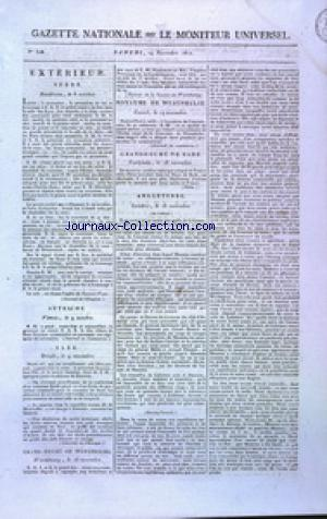 GAZETTE NATIONALE OU LE MONITEUR UNIVERSEL no:328 24/11/1810