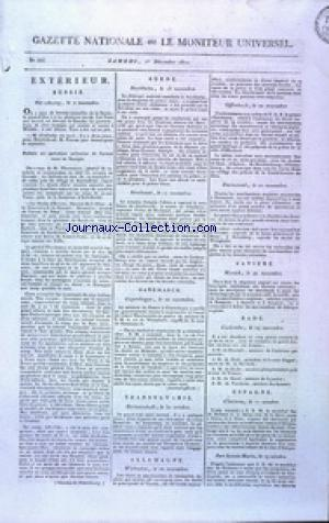 GAZETTE NATIONALE OU LE MONITEUR UNIVERSEL no:335 01/12/1810