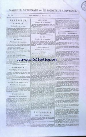 GAZETTE NATIONALE OU LE MONITEUR UNIVERSEL no:336 02/12/1810