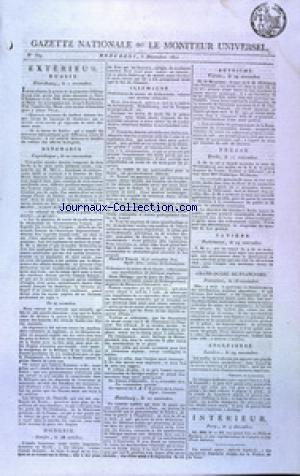 GAZETTE NATIONALE OU LE MONITEUR UNIVERSEL no:339 05/12/1810