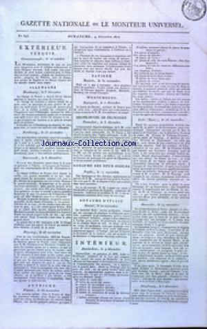 GAZETTE NATIONALE OU LE MONITEUR UNIVERSEL no:343 09/12/1810