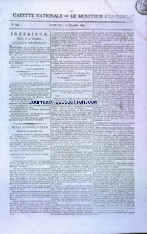 GAZETTE NATIONALE OU LE MONITEUR UNIVERSEL no:349 15/12/1810